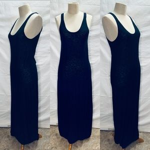 Vince Women Dress Black Maxi Shift Long Sleeveless